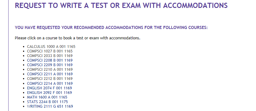 Accommodated Exams - Office of the Registrar - Western